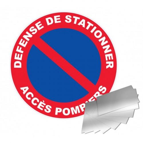 Panneau de signalisation - Défense de stationner / Accès pompiers