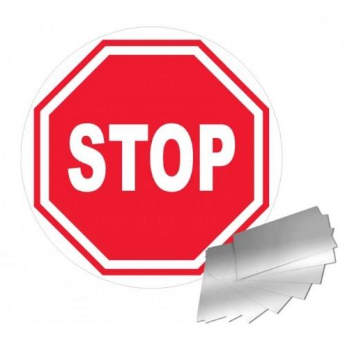 Panneau STOP alu 1mm diam 300 mm