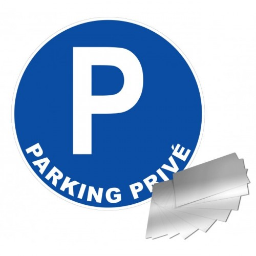 Panneau PARKING PRIVE alu 1 mm diam 300 mm