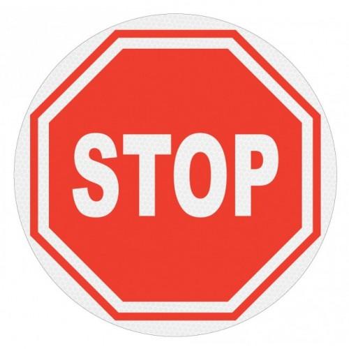 Panneau STOP rétro réfléchissant plastique rigide 300 mm