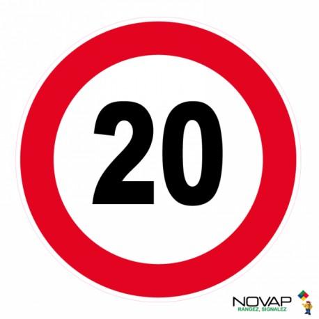 Panneau de signalisation - Vitesse limitée à 20 km/h