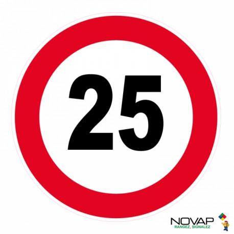 Panneau de signalisation - Vitesse limitée à 25 km/h