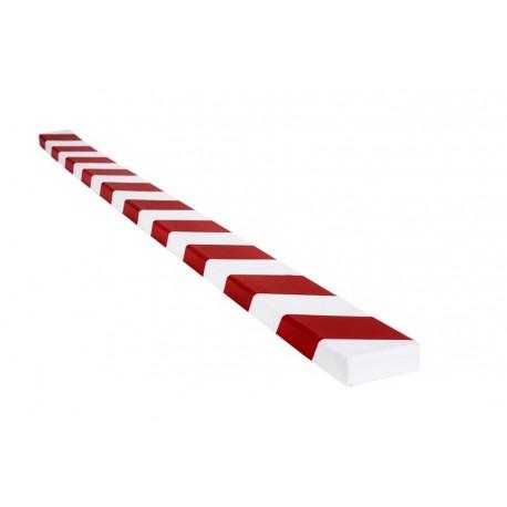 Amortisseur de choc 1 m pour surface plane - rouge et blanc