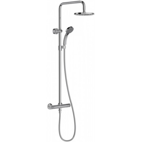 Colonne de douche thermostatique et douche de tête ronde - JULY