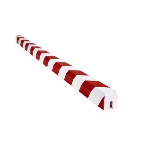 Amortisseur carre 1 m pour IPN ou arêtes vives - Rouge et Blanc