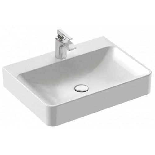 Vasque à poser 60 x 45 cm, avec trop-plein, percé 1 trou de robinetterie - Vox