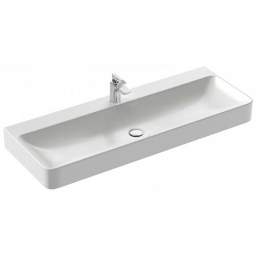 Vasque à poser 120 x 45 cm, avec trou de trop-plein, percée 1 trou de robinetterie - Vox