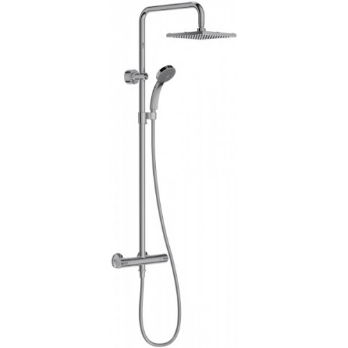 Colonne de douche thermostatique et douche de tête carrée - JULY