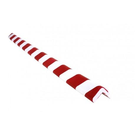 Amortisseur de choc 1m carré pour angle droit  - Rouge et Blanc