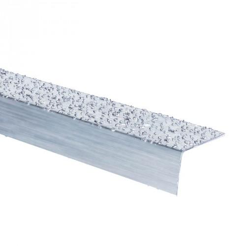 Nez de marche inox à particules 2 m - intérieur et extérieur