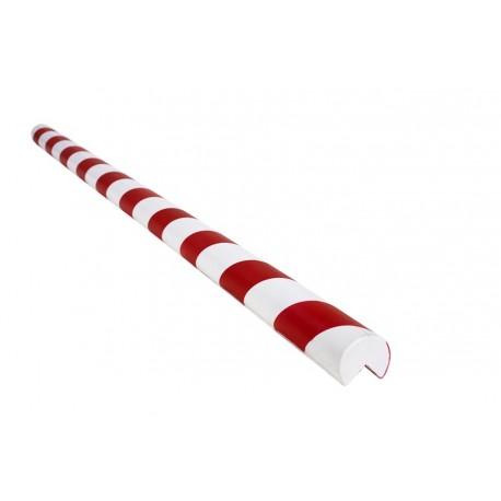 Amortisseur de choc 1m rond pour angle droit - Rouge et Blanc