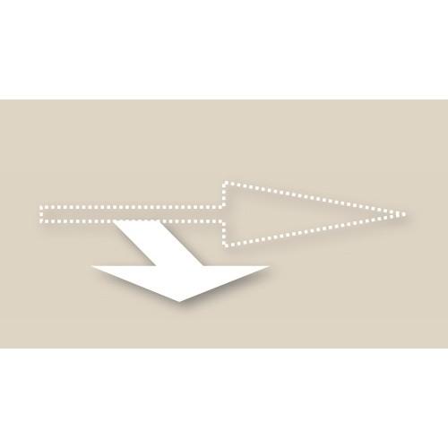 Motifs préfabriqués - Tête de flèche tourne à droite - T SIGN