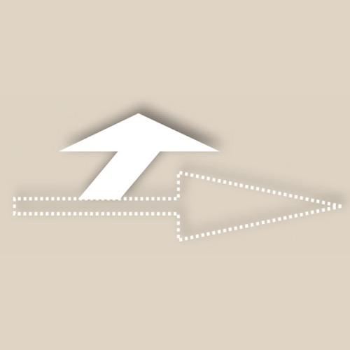 Motifs préfabriqués - Tête de flèche tourne à gauche - T SIGN