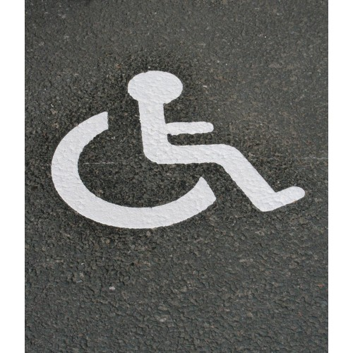 Symbole handicapé parking PMR thermocollé - T SIGN