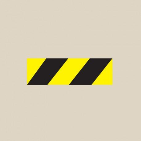 Ligne de sécurité noir et jaune T SIGN Thermocollé