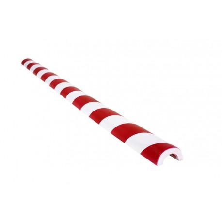 Amortisseur de choc 1m demi-cercle pour tube  - Rouge et Blanc