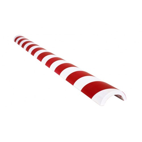 Amortisseur de choc 1m demi-cercle pour tube 50 mm - Rouge et Blanc