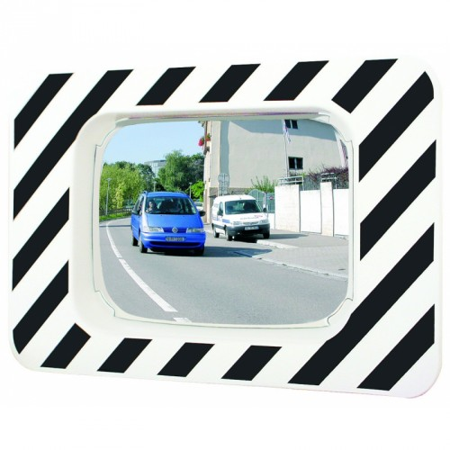 Miroir rectangulaire 990 x 130 x 1225 mm routier incassable - Polymir