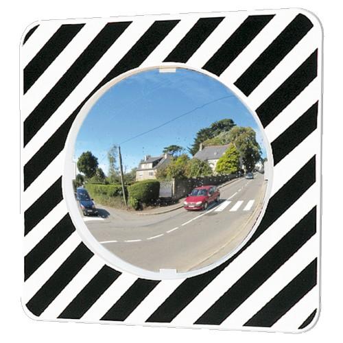Miroir rond 920 x 130 x 940 mm routier incassable - P.A.S