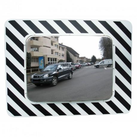 Inox - Miroir rectangulaire 1010 x 200 x 1010 mm routier incassable