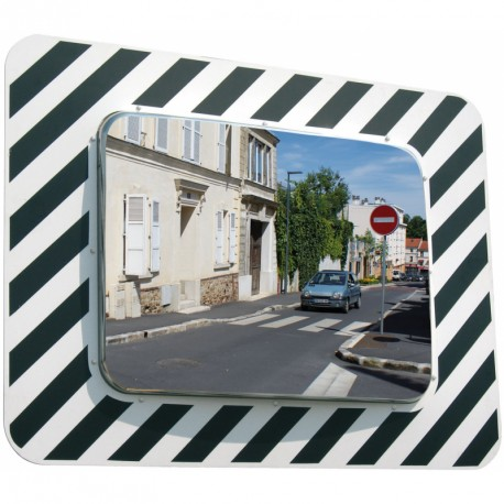 Inox - Miroir rectangulaire 1300 x 200 x 970 mm routier incassable