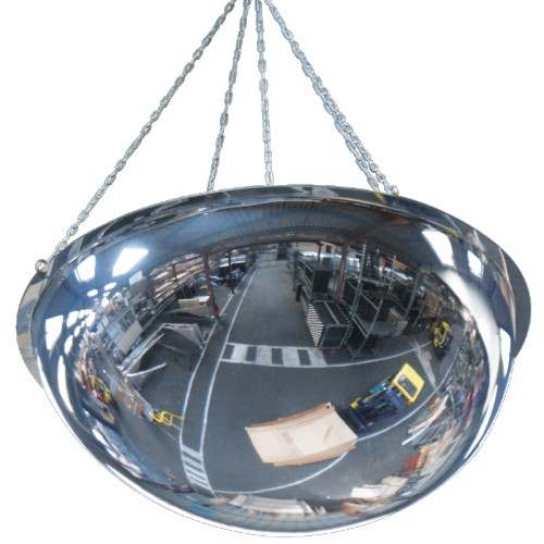 Miroir demi-sphère de sécurité industriel à suspendre
