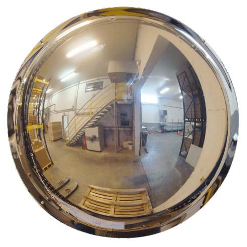 Miroir pour industries demi-sphère à fixation murale