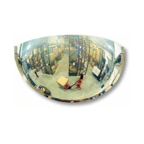 Miroir pour industries 1/4 de sphère à fixation murale