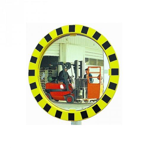 Miroir Polymir rond pour industries avec cadre