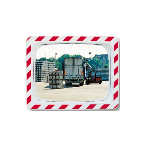 Qualité P.A.S - Miroir rectangulaire industriel avec cadre - 990 x 140 x 800 mm
