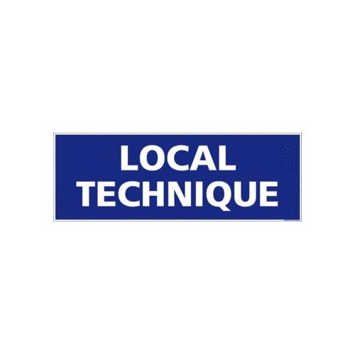 panneau local technique - alu - 350 x 125 mm