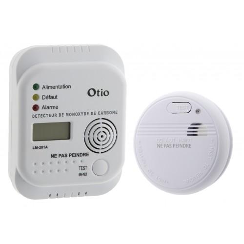 Kit tranquillité détecteur de fumée et de monoxyde de carbone - OTIO