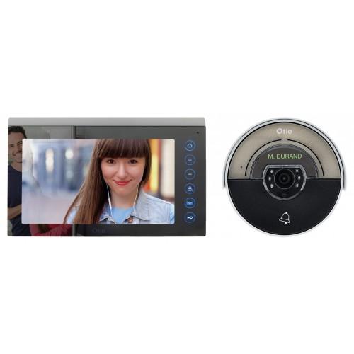 Portier vidéo couleur effet miroir mémoire d'images 2 fils