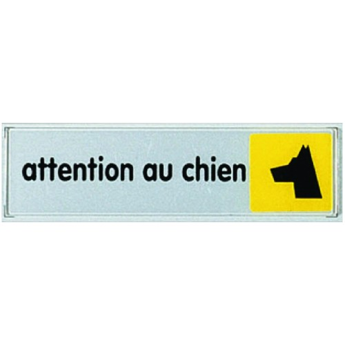Plaquette plexiglas couleur - Attention au chien