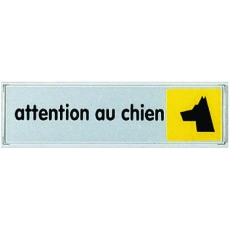Plaquette plexiglas couleur - Attention au chien
