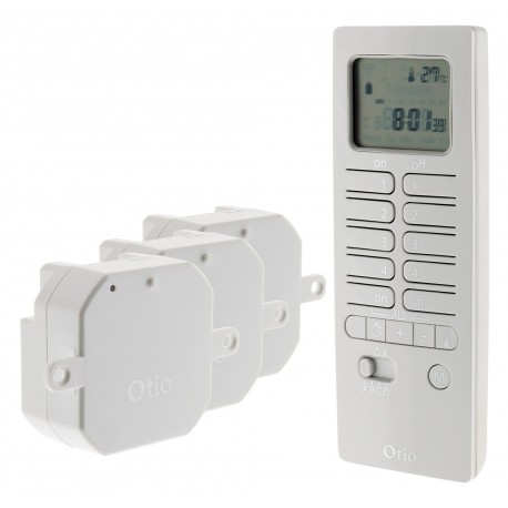 Pack chauffage télécommandé - Inclus 1 télécommande 16 canaux + 3 micro récepteurs encastrables pour chauffage 2000W max