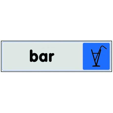 Plaquette plexiglas couleur - Bar