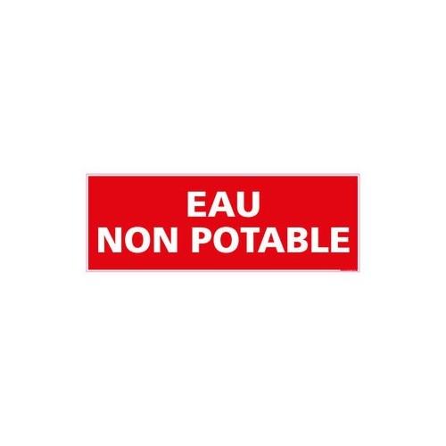 PANNEAU DE SIGNALISATION - EAU NON POTABLE - alu - 350 x 125 mm