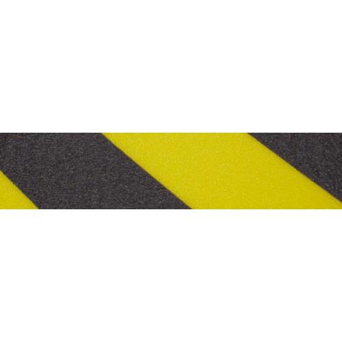 Surface anti-dérapante noires et jaunes - intérieure