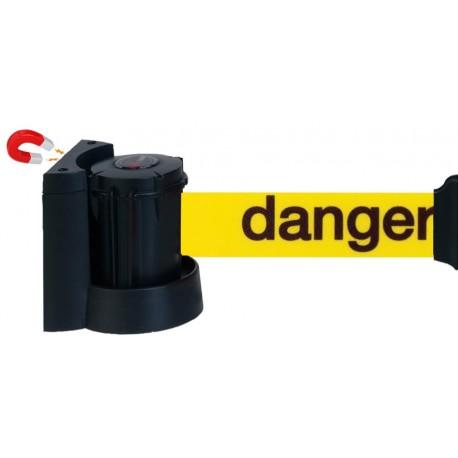 """Support Mural Magnétique 3 m à Sangle 50 mm - Jaune Marquage """"Danger"""""""