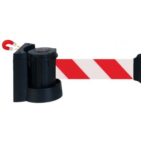 Support Mural Magnétique 3 m à Sangle 50 mm - Rayures rouges et blanches