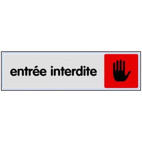 Plaquette plexiglas couleur - Entrée interdite