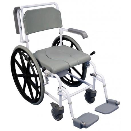 Chaise de douche percée autopropulsée Bewl