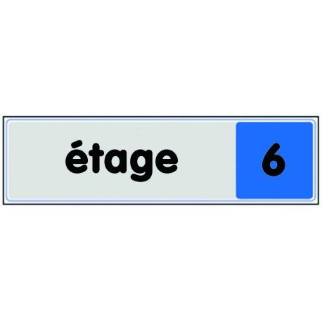 Plaquette plexiglas couleur - Etage 6