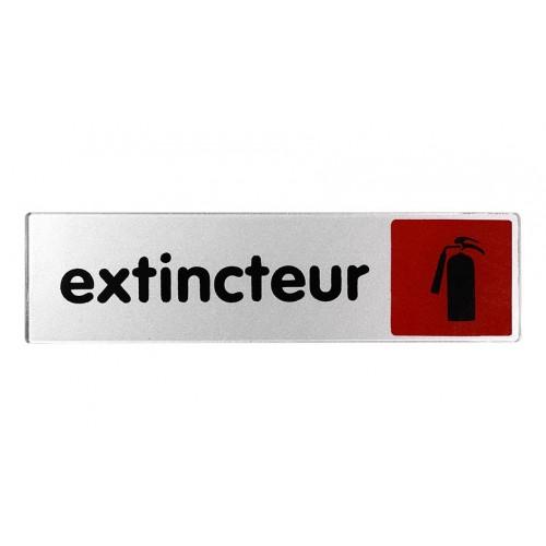 Plaquette plexiglas couleur - Extincteur