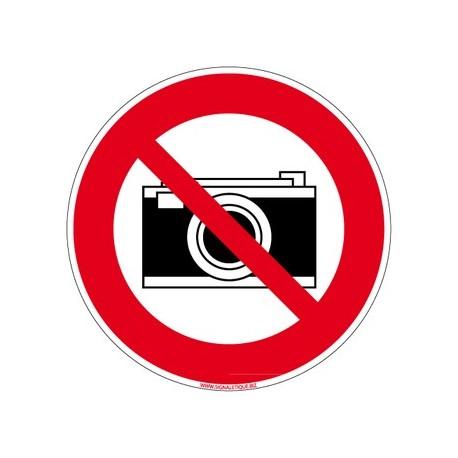 Panneau APPAREIL PHOTO INTERDIT - alu - DIAM 250 mm