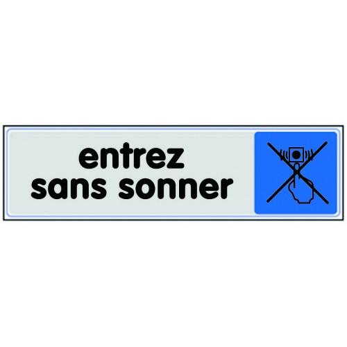 Plaquette plexiglas couleur - Entrez Sans Sonner