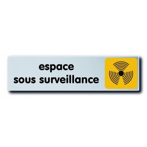 Plaquette Plexiglas Couleur - Espace Sous Surveillance