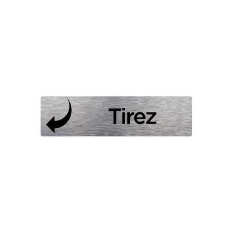 PLAQUE DE PORTE TIREZ alu brossé 170 x 50 mm