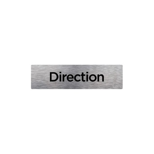 PLAQUE DE PORTE DIRECTION alu brossé 2 mm 210 x 75 mm